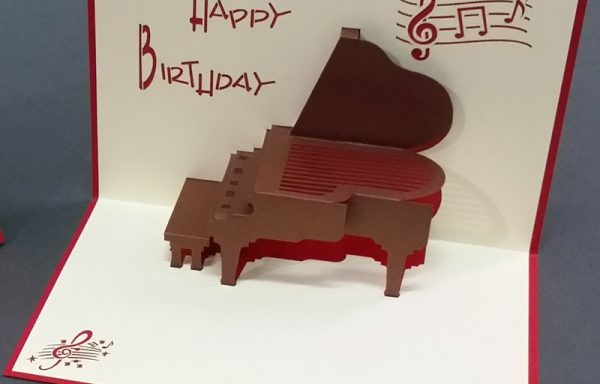 3D Pop Up Karte – Piano